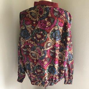 robert stock Jackets & Coats - Vintage Silk Robert Stock Bomber Jacket
